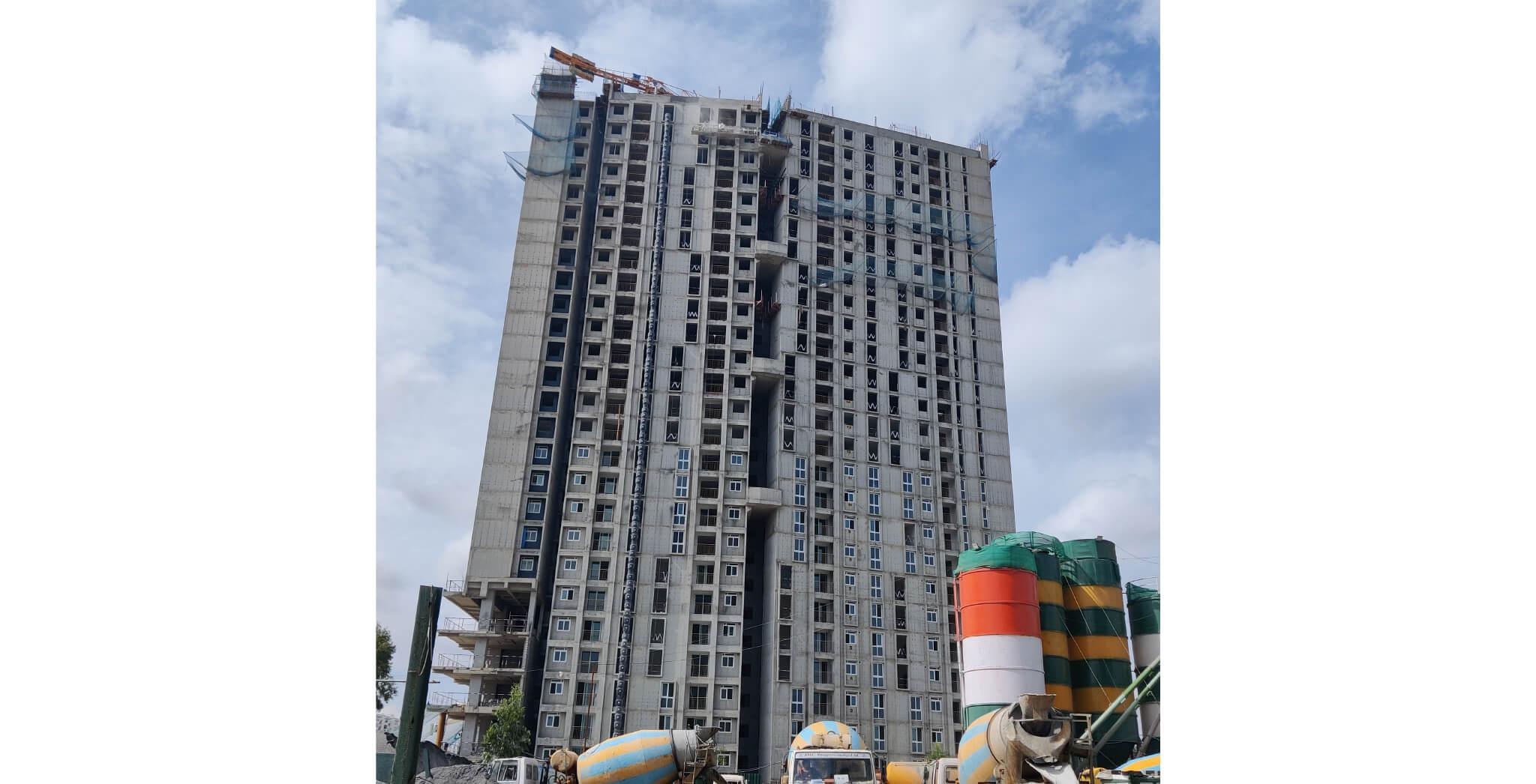 Aug 2021 - Eden Tower E: North Elevation