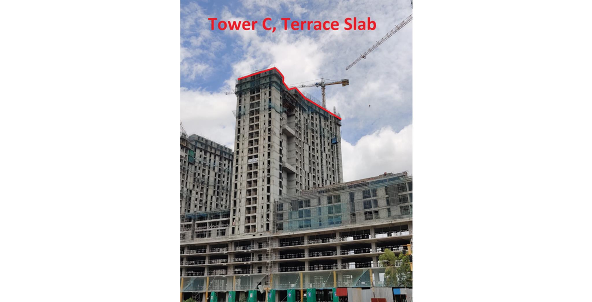 Sep 2021 - Eden Tower C: Completion of Terrace floor slab Milestone