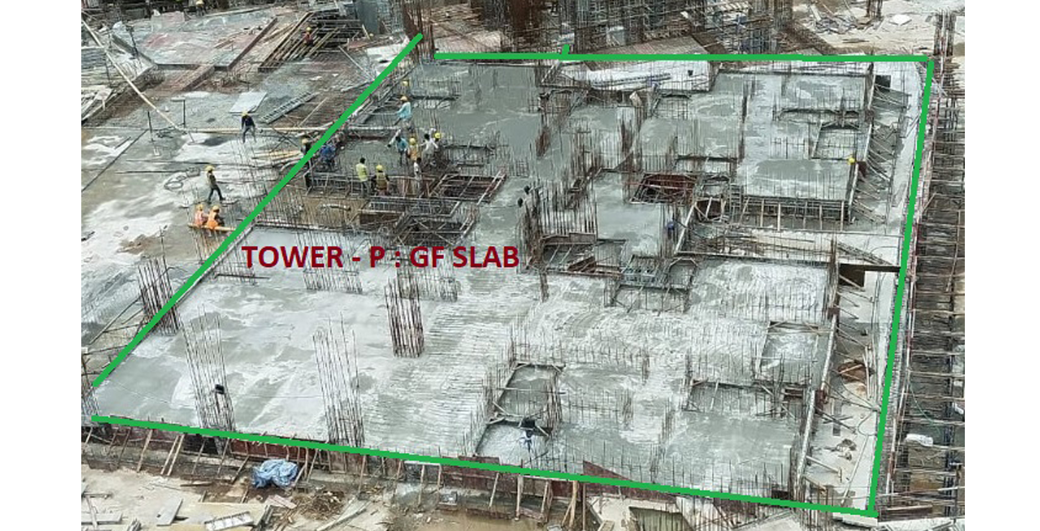 Sep 2021 - Tranquil Tower P: Ground Floor slab casted