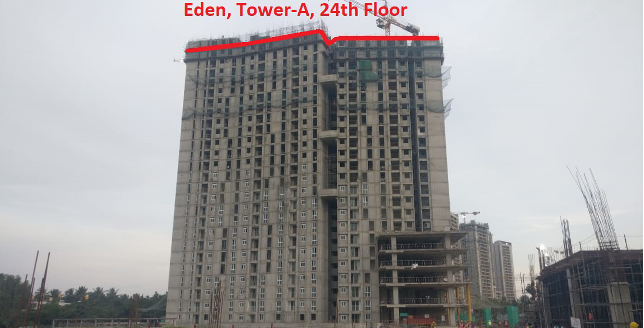 Sep 2021 - Eden Tower A: Completion of 24th floor slab Milestone