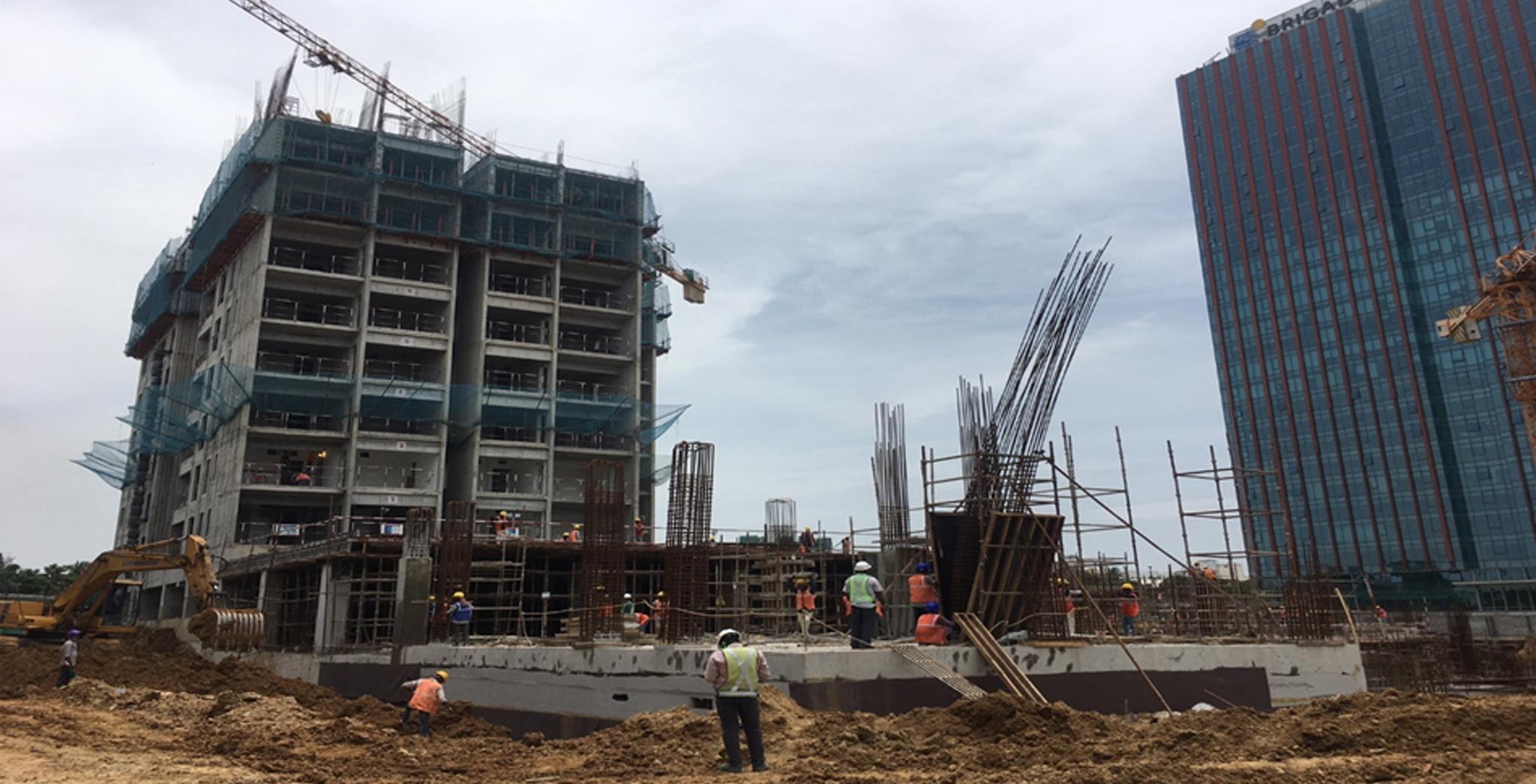 Jul 2021 - Tower A1: Ninth floor level above slab work is in progress
