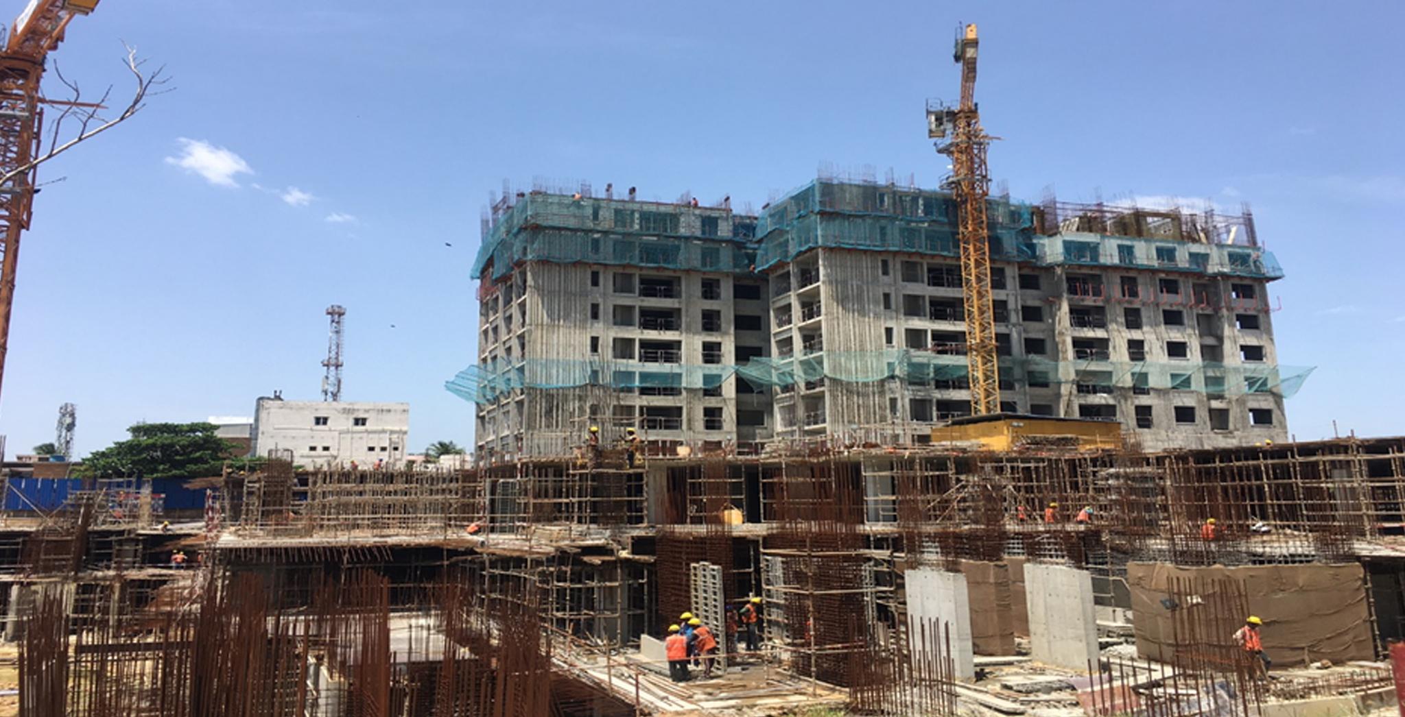Jul 2021 - Non Tower: Ground floor and Podium work is in progress