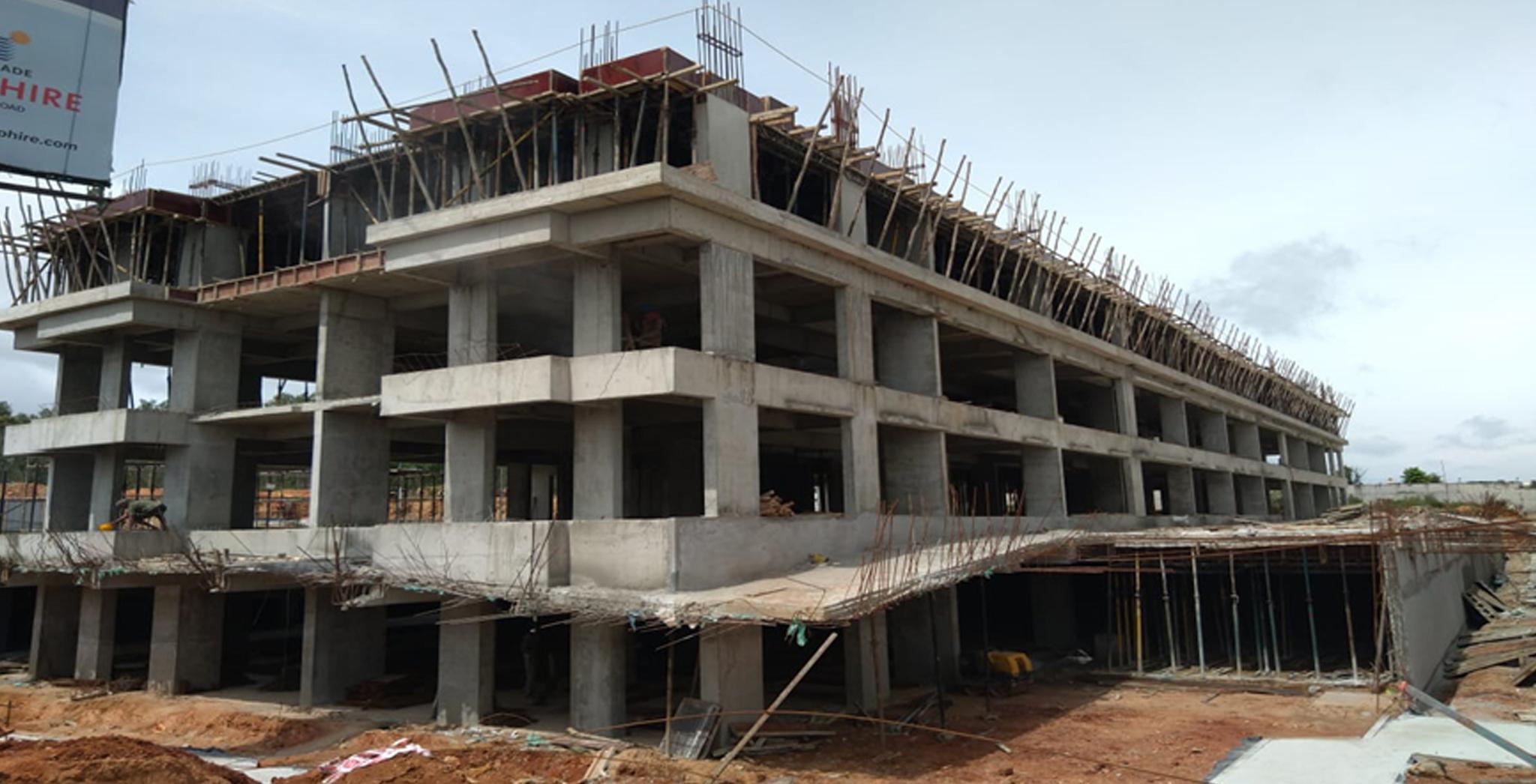 Aug 2021 - Third Floor shuttering work is in progress